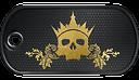 BF3 King of Skulls Dog Tag