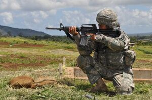 Infantryman Crouching