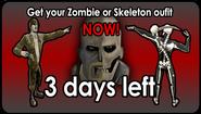 Zombie Skeleton 3 Days