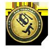 Gold Combat Aviator Patch