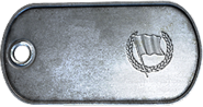 Capture the Flag Ribbon Dog Tag