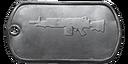 BF4 M249 Master Dog Tag