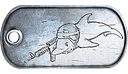 BF3 Diving Dolphin Dog Tag