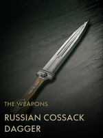 Russian Cossack Dagger Codex Entry
