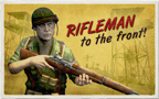 Rifleman Postcard