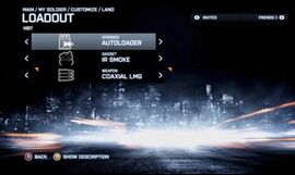 BF3 Vehicle Loadout