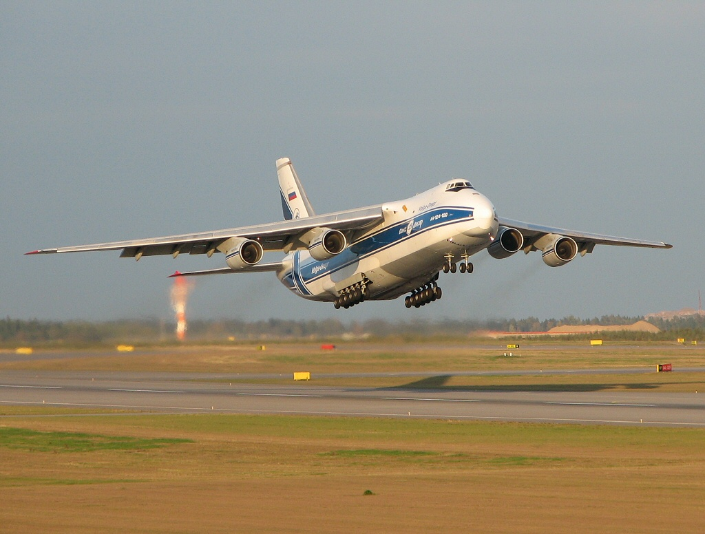 """The Antonov An-124 Ruslan (Антонов Ан-124 """"Руслан"""") (NATO reporting name:  """"Condor"""") is a Ukrainian cargo plane that is the world's second largest  operating ..."""