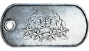 BF3 Co-Op Service Star 50 Dog Tag