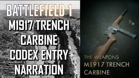 M1917 Trench Carbine Codex Entry Narration - Battlefield 1