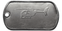 BF4 AH-6J Little Bird Master Dog Tag