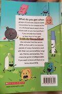 BFDI Official Character Guide back cover