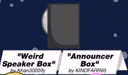 Weirdspeakerbox announcerbox