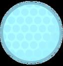 Golf ball frozen