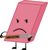 Eraser Cuts Himself