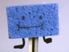 Blue spongey