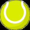 Tennis ball back
