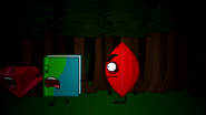 Book and Ruby running from Evil Leafy