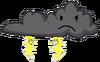 Thunder cloudy transparent