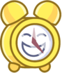 X's alarm clock