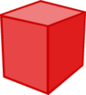 Red Building Block 3D