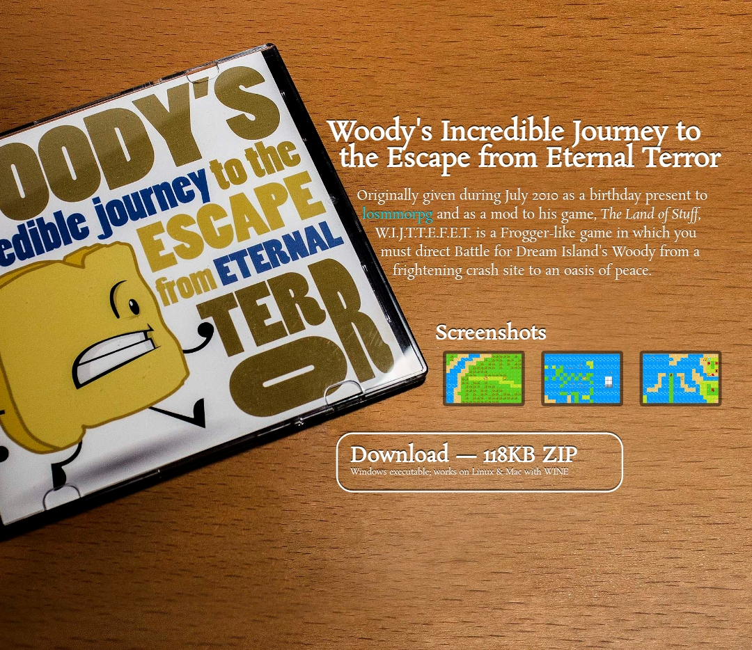 Woody S Incredible Journey To The Escape From Eternal