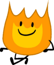 Firey bfb sitting pose