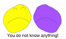 You do not know anything, YOU'RE PURPLE!
