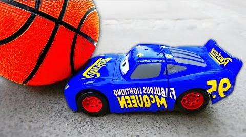 Basketball Accident McQueen Cars 3 Toys! w Nursery Rhymes Song Funny Kids Video-0