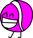 Hot Pink Tennis Ball