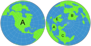 Orthographic Projection of Earth Labeled