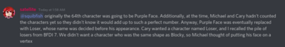 It should've been purple face