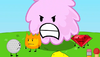 Firey standing behind enlarged Puffball in BFDIA 1