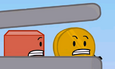 Coiny talking to Blocky in the TLC