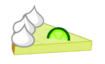One slice of Key lime pie