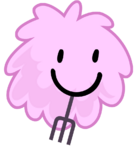 Puffball with fork