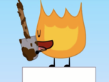 Firey licking a shovel