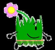 Flower Grassy wearing a Hawaii Skirt