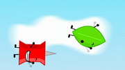 Flying leaf and pin