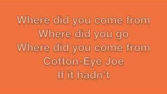 Cotton-Eye Joe Lyrics-2