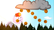 The evil forest is great, it rains BASKETBALLS in there