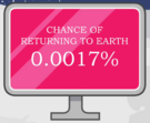Chances of returning to earth
