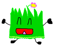 Happy Flower Grassy in a Hawaii Skirt