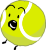 Tennis ball scared