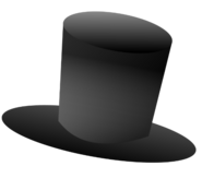 Brown Books Top Hat