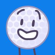 Golf ball voting icon