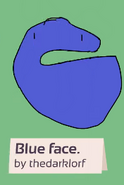 Blue face reconstructed