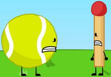 Match and Tennis Ball