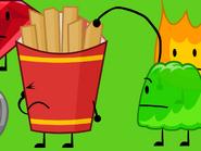 Gelatin eats fries