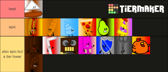 Brawl of the Objects tier list