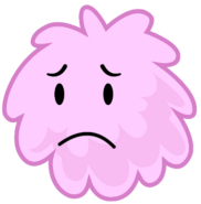 Sad Puffball when she was eliminated